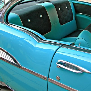 Custom Baby Blue Car Interior