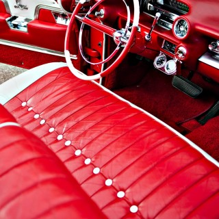 Custom Red Auto Interior