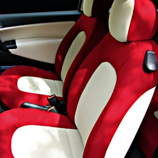 Custom Red & White Auto Interior
