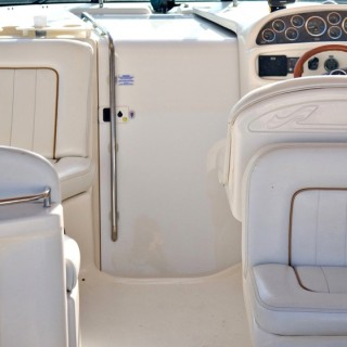 Custom White Boat Interior