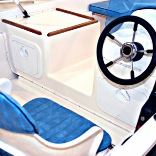 Baby Blue Boat Interior